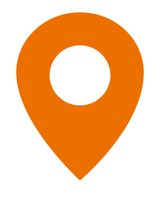 Pin marking a location on a regional map