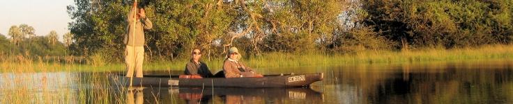 Botswana river boat