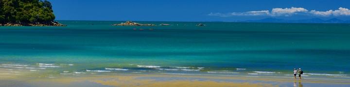 Beach along the Pacific Ocean