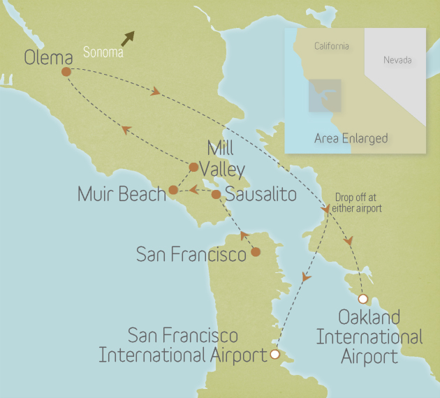 California: San Francisco to Point Reyes
