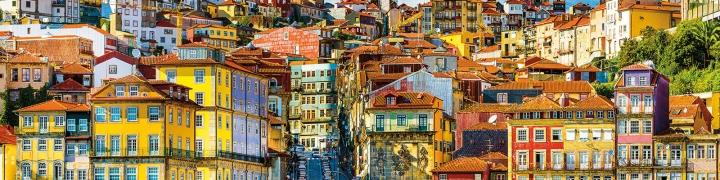 Portuguese city waterfront