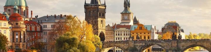 bridge over river in Prague
