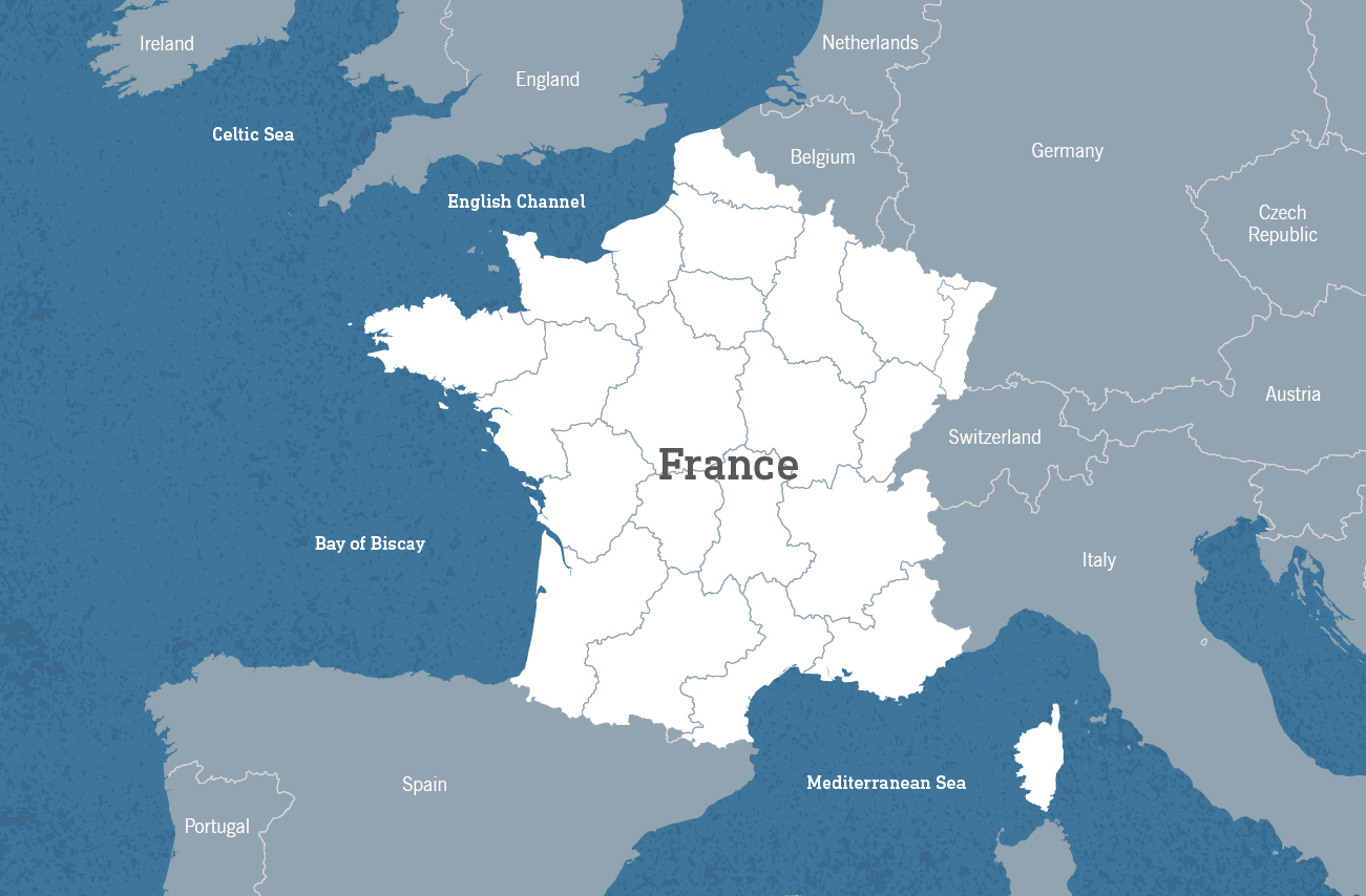 Map Of Europe France.Walking Tours In France Country Walkers