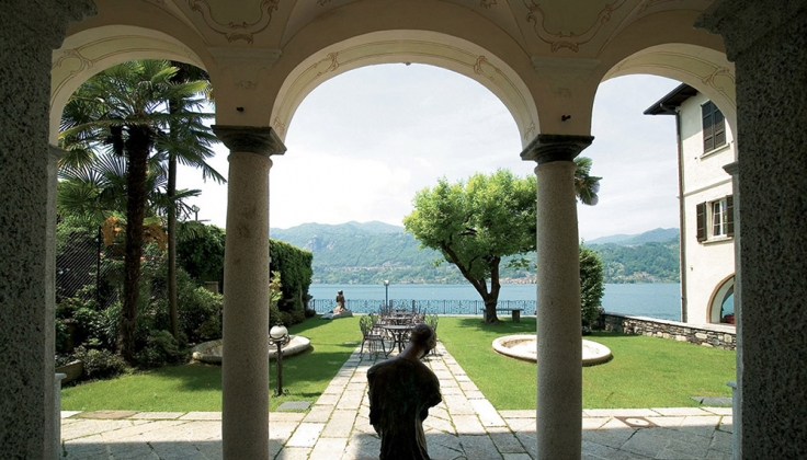 hotel san rocco exterior looking onto lake