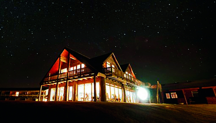 Hotel Ranga at night with stars overhead