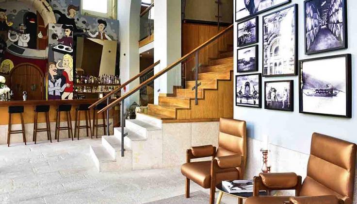 Pestana Vintage Porto Hotel bar