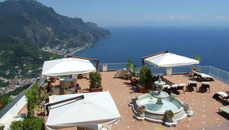hotel villa fraulo terrace overlooking the mediterranean