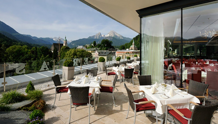 hotel edelweiss restaurant view