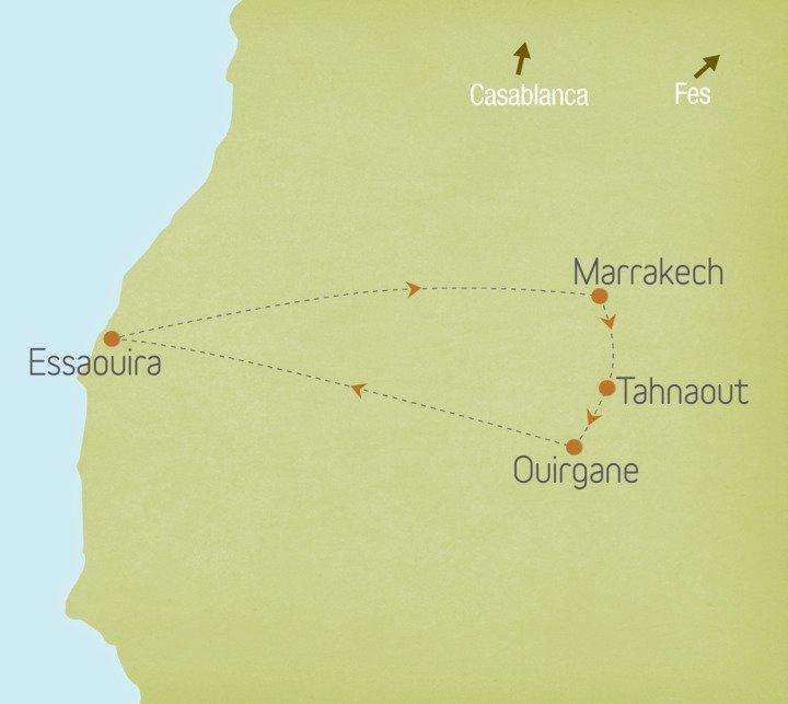 Morocco: Marrakech, Foothills of the High Atlas & Essaouira
