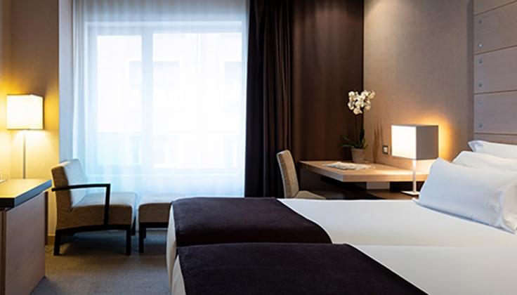 Guest room in Hotel Hesperia Bilbao