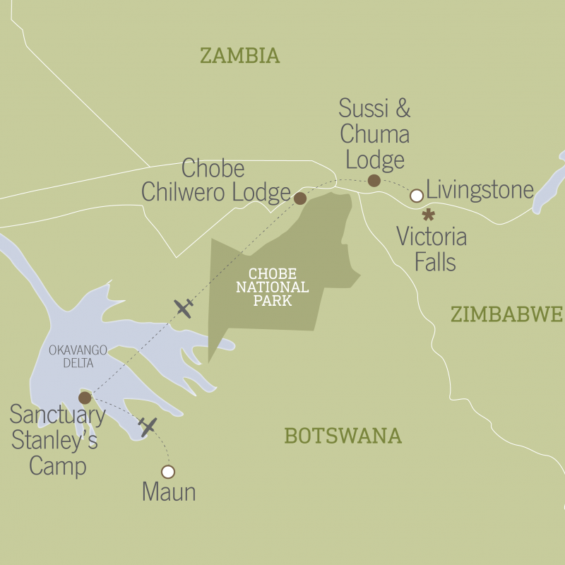 Botswana & Zambia Safari: Victoria Falls to the Okavango Delta 16